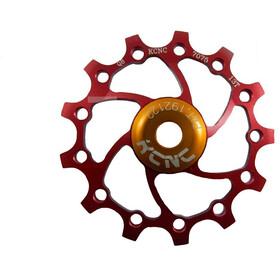 KCNC Jockey Wheel 14T Narrow Wide SS Bearing Long Teeth, czerwony